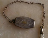Antique chatelaine clip with chain Victorian