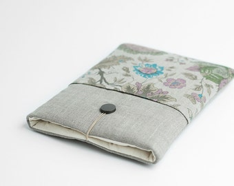 Surface Pro 3 case, Surface Pro 4 sleeve, grey, minimal with flower pocket