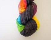Steampunk Rainbow, 80/20 Superwash Fingering Sock Weight
