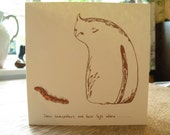 Cat card - blank for your own message