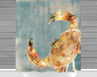 Shower Curtain And More   Crab Nautical Beach House Water Inspired | See  Dropdown For Pricing