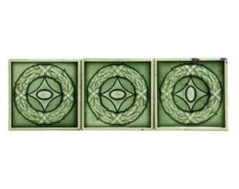 Mint green geometric small tile