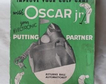 ON SALE 30% OFF Oscar Jr. Putting Partner, Vintage, Complete, Original Box, Golf Putting Practice, Golfing Supply, End of Summer Gift, Offic