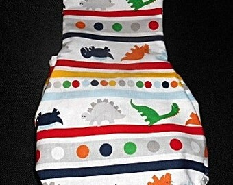 Dinosaurs, Polka Dots, and Stripes Baby Romper/Sunsuit - Perfect for summertime
