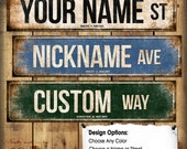 """Custom // 1 Metal Street Sign // 5.5"""" x 22"""" // Personalized Gift"""