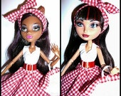 Monster/Ever After Doll Outfit  - Pret-a-porter - Picnic Outfit
