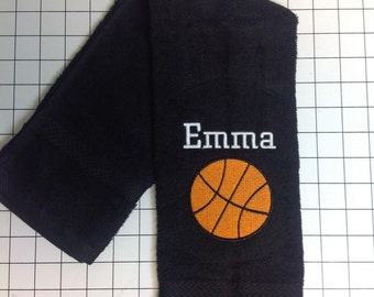 Basketball, Personalized towels, softball, soccer, football, volleyball, tennis, golf, bowling, baseball, fishing, basketball, track
