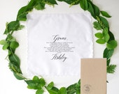 Printed Wedding Handkerchief for your Grandmother. Grandmother of the Bride. Mother of the Bride.