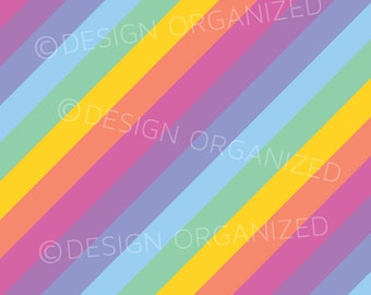 Stripped Rainbow Colors Background with Fashion Consultant Retailor Clothing Boutique  Colors