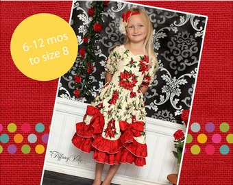 Tori's Bustled Princess Dress PDF Pattern Sizes 6 months to girls 8