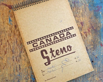 Vintage 70s steno notebook - Canada souvenir blank book
