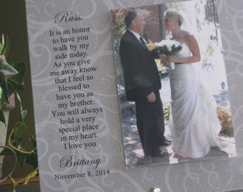 BROTHER Wedding Gift, Brother wedding frame, 4x6 photo, Walk Down The Aisle, Brother Gift, Personalized Brother Picture Frame, Photo Frame