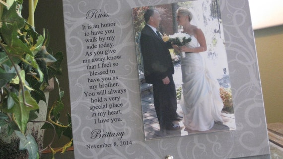 Special Wedding Gift Ideas For Brother : BROTHER Wedding Gift, Brother wedding frame, 4x6 photo, Walk Down The ...