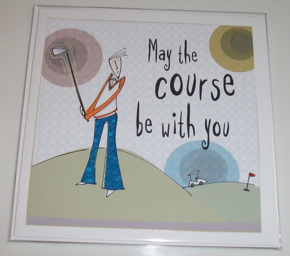 Male Golf Themed Birthday Card From Bloke Range May The