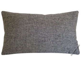 Gray Cosmo Linen Decorative Throw Pillow Cover / Pillow Case / Cushion Cover / 12x18""