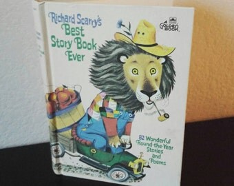Vintage Richard Scarry Children's Book - Richard Scarry's Best Story Book Ever 82 Stories and Poems - 1970s