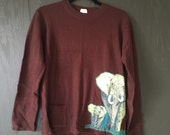 Elephant Sweater w/ Pocket (women's medium)