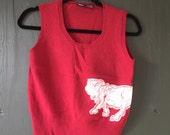Lion Drawing Sweater Vest (unisex sm/med)