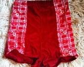 High waist velvet shorts lace shorts