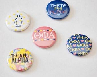"Theta Phi Alpha 1"" Buttons"