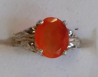 Ring - Orange Chalcedony - Size 5