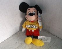 The Disney Store MICKEY MOUSE The Spirit of Mickey Bean Bag Plush Stuffed Animal 9""