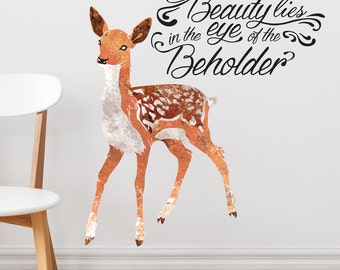 Beauty in the Eye of the Beholder Removable Wall Sticker | LSB0001WHT