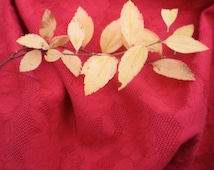Large Rectangle Tablecloth Crimson Red 84 by 58 Lace Floral Flowers, Bright Table Clothes WEDDING Cake Table, AS-IS (tiny flaws), Lace Roses