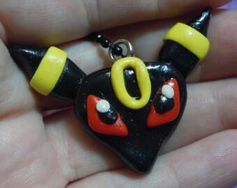Umbreon Necklace, Pokemon Umbreon Jewelry, Gamer Jewelry, Polymer Clay Charm