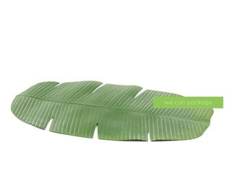 "Artificial Banana Leaf Table Runner - 30"" by 16"""