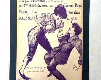 Vintage poster / musical sheet