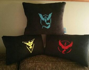Pokemon Go Team inspired pillows set B