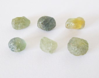 Natural Blue Green and Gold Montana Sapphire Rough Lot 14.45cts