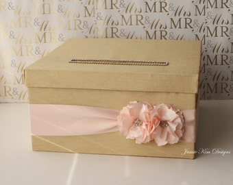 Wedding Card Box Money Holder Gift Card Box- Custom Made to Order