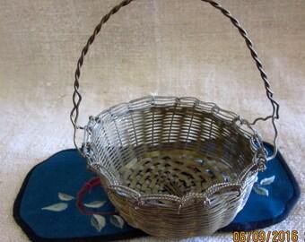 Vintage Brass Wire Mini Basket Brass Collectible Brass Basket Brass Wire BasketMid Twentieth Century Brass