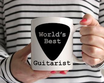 World's Best Guitarist Guitar Pick Ceramic Guitarist Mug