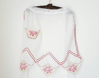 Vintage Sheer Half Hostess Handkerchief Apron