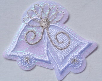 holiday bells iron on applique