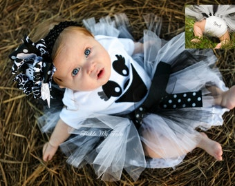 Greta the Ghost Tutu Halloween Costume-Baby Girl Ghost Costume-Ghost Tutu Costume-My First Halloween Outfit *Headband NOT Included*