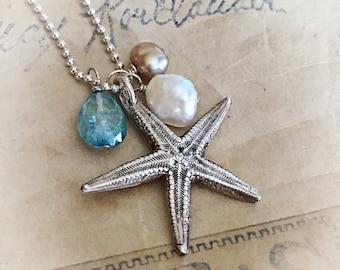 Starfish charm necklace