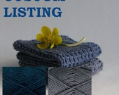 Custom listing for Jessie Larsen - 5 sets of two hand knitted baby wash cloths