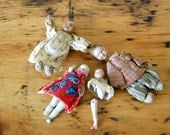 Vintage Doll Pieces Vintage Miniature Dolls Handmade Dolls Vintage Porcelain Dolls Vintage Creepy Dolls from The Eclectic Interior