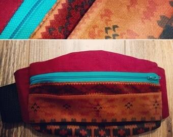 Western pattern Festival fanny pack / bum bag / waist pouch