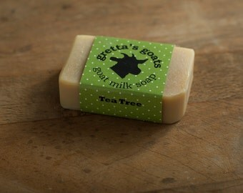 Organic Tea Tree Goat Milk Soap from Hand Milked Goats that Graze on Organically Managed Pasture