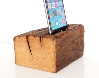 iPhone 6 Dock - iPod touch Dock - for iPhone 4 / 4S / 5 / 5C / 5S / 6 / 6 Plus / 6S / 6S Plus - barnwood