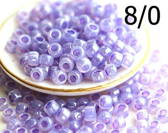 TOHO Lilac Seed beads, size 8/0, Ceylon Lavender, N 916, japanese glass rocaille beads - 10g - S1063