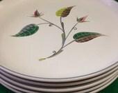 Denby England - Spring pattern. Designer A. College. 5 Salad Plates