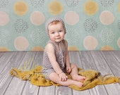 Baby Rompers, 6-12M Overalls, Short Overalls, Beige, Photo Prop