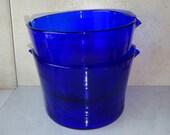 Vintage Cobalt Blue Bowls with Spouts Large Cups Jars Set of 2
