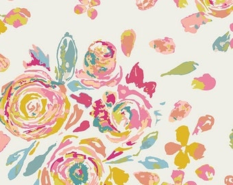 Crib Skirt - Rose, Wild Flower, Coral, Blush, Floral